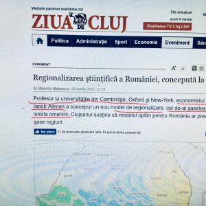Articol Ziua de Cluj