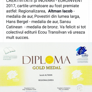 Diploma cu medalia de aur