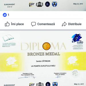 Diploma de bronz a lui Catinean